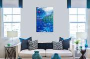 Blue Serene Nature Painted Canvas | Home Accessories for sale in Nairobi, Roysambu