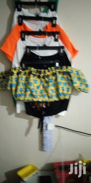 Ankara Off Shoulder Croptop | Clothing for sale in Kajiado, Kitengela