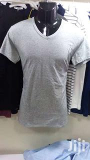 Men's Tucked V-neck T-shirt Black & Grey | Clothing for sale in Nairobi, Nairobi Central