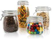 4pcs Glass Jar With Airtight Lids | Manufacturing Materials & Tools for sale in Nairobi, Nairobi Central