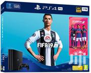Playstation PS4 Console Slim 500GB Black + FIFA 19 Standard Edition | Video Game Consoles for sale in Nairobi, Nairobi Central