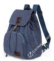 Navy Blue Canvas School Custom Fashion Backpack Bag | Bags for sale in Nairobi, Ngara