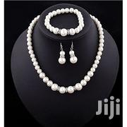 Austrian Pearl Victorian Style Necklace - Earrings - Bracelet Set | Jewelry for sale in Nakuru, Nakuru East
