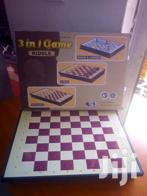 3 In1 Game Snakes And Ladders, Chess And Draughts/Checkers