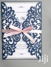 Unique Navy Blue Laser Cut Wedding Invitation | Manufacturing Services for sale in Nairobi, Nairobi Central