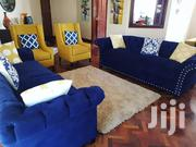 5 Seaters Chesterfield Sofa Plus 2 Wingback Chairs | Furniture for sale in Nairobi, Ngara
