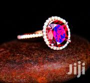 Genuine Natural Stone Red Garnet Ladies Wedding Ring Size 9 US | Jewelry for sale in Nairobi, Kilimani