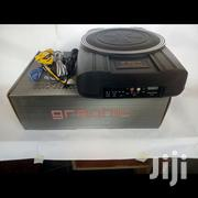 "Compact Powered Subwoofer: 250 Watts And An 8"" Sub- Graphic 