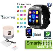 TF/SIM Card Slot Q18 Smart Bluetooth Smartwatch Phone With Camera | Smart Watches & Trackers for sale in Nairobi, Karen