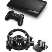 Ps3 Console+ USB Steering Wheel + Ps3 Wireless Controller | Video Game Consoles for sale in Kajiado, Ngong