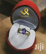 18k Gold With Synthetic Tanzanite Ladies Engagements Ring   Jewelry for sale in Nairobi, Nairobi Central