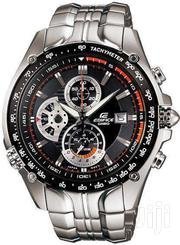 Casio Black Dial Tachymeter Watch With Silver Stainless Steel Straps | Watches for sale in Nairobi, Nairobi Central