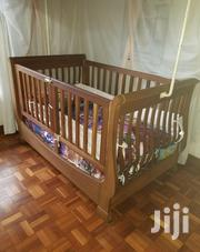 Baby Cot Made Of Hardwood Mahogany With Strong Mattress Mosquito Net | Children's Furniture for sale in Nairobi, Parklands/Highridge