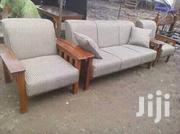 Mahogany High Density Cushioned Arm Chairs/Sofas | Furniture for sale in Nairobi, Ziwani/Kariokor