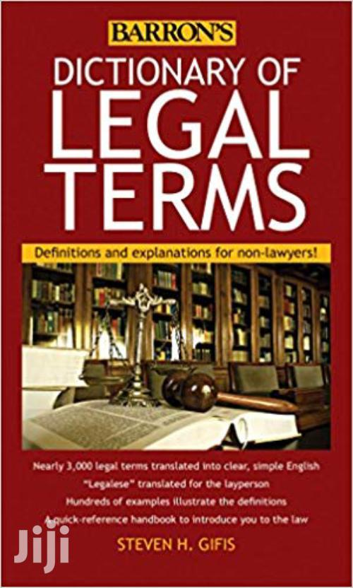 Dictionary of Legal Terms-Steven Gifis