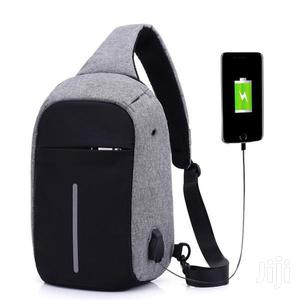 Anti Theft USB Charging Port Shoulder Chest Cross Body Backpack