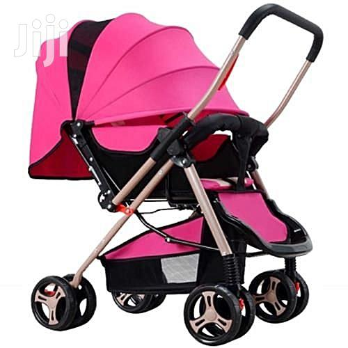 Generic Pink Lightweight Foldable Baby Stroller/ Pram/Push Chair