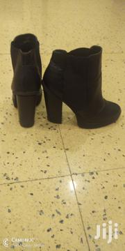Black Leather Ankle Boots | Shoes for sale in Kilifi, Sokoni