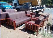 7seater Open Sofa Made of Mahogany Wood | Furniture for sale in Nairobi, Embakasi