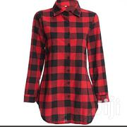 Red and Black Stripe Flannel Top for Ladies | Clothing for sale in Mombasa, Tudor