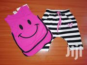 Smiley Face Top and Tight for Baby Girl | Children's Clothing for sale in Nairobi, Kilimani
