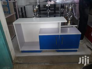 Blue +White Tv Stand