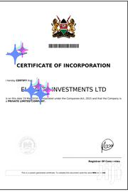 Company Registration | Legal Services for sale in Nairobi, Nairobi Central