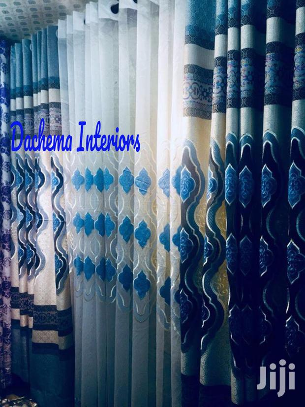 Archive: Printed Curtains and Matching Sheer