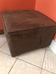 Brown Suede Poof Seat | Furniture for sale in Nairobi, Nairobi South