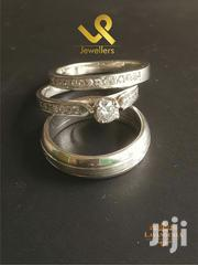 Custom Made Couple Sterling Silver Double Wedding Rings. Bride N Groom | Jewelry for sale in Nairobi, Nairobi Central