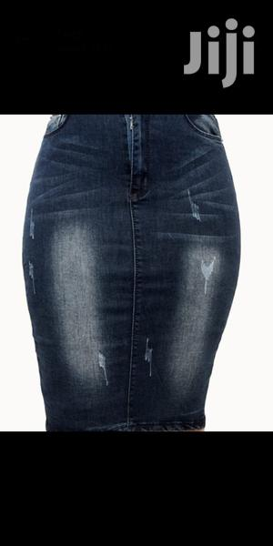 Ladies Classic Denim Jeans Skirt