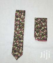 Flowered Tie With Pocket Square Of Good Quality | Clothing Accessories for sale in Homa Bay, Mfangano Island