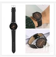 Quartz 2 Pack Couple Watches Quartz Dial Leather Watch - Black | Watches for sale in Nairobi, Nairobi Central