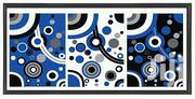 Blue Dotted Artwork Plus Frame Before and After Mounted on the Wall. | Arts & Crafts for sale in Nairobi, Harambee