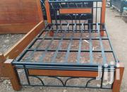 Five by Six Metal Wood Bed | Furniture for sale in Nairobi, Ngando