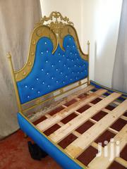Iron Blue Leather Bed 5 | Furniture for sale in Mombasa, Bamburi