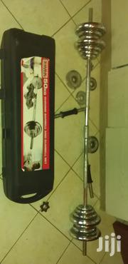 50kg Chrome Barbell and Dumbell Set | Sports Equipment for sale in Mombasa, Mkomani
