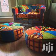 Ankara Print Poof And Chair | Furniture for sale in Nairobi, Nairobi Central