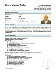 Computer and IT Personnel | Computing & IT CVs for sale in Nairobi, Kasarani