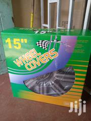 "Size 15"" Black Silver Wheel Covers 