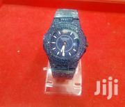 Crystal Iced Out Blue Silver Watch | Watches for sale in Nairobi, Roysambu