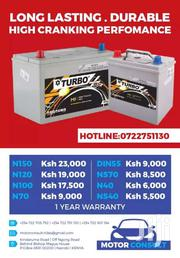 Turbo Car Batteries Quality Guaranteed Products | Vehicle Parts & Accessories for sale in Nairobi, Kilimani