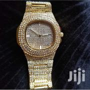 Crystal Iced Out Gold Watch | Watches for sale in Nairobi, Roysambu