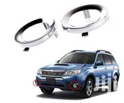 Subaru Foresta: Yr2009/13: ABS Chrome Silver Fog Ring Cover: 2 Pcs | Vehicle Parts & Accessories for sale in Nairobi, Nairobi Central