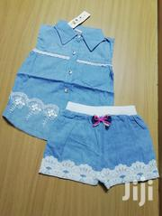 Girls Denim Dress and Pair of Matching Shorts | Children's Clothing for sale in Nairobi, Kilimani