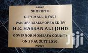 Plaque And Signages | Manufacturing Services for sale in Mombasa, Mji Wa Kale/Makadara