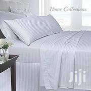 Pure White Bedsheets With Satin Stripes | Home Accessories for sale in Nairobi, Nairobi Central