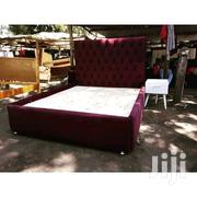 Stylish Modern Quality Buttoned 6by6 Bed | Furniture for sale in Nairobi, Ngara