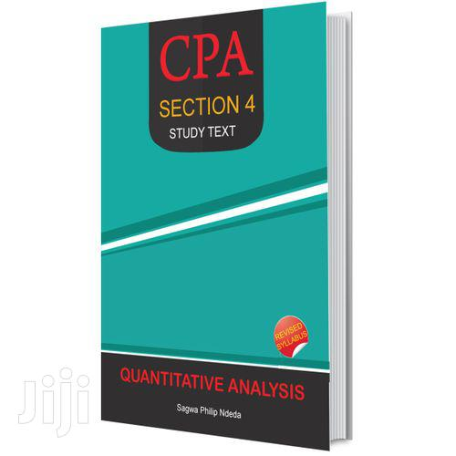 Cpa Section 4 Quantitative Analysis Study Text Book