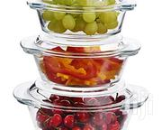 3pcs Clear Glass Casseroles | Kitchen & Dining for sale in Nairobi, Nairobi Central